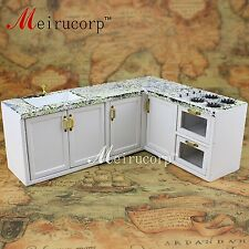 Dollhouses 1/12 scale miniature furniture White kitchen sink set(marble texture)
