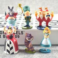 SET DE 6 FIGURAS ALICIA EN EL PAIS DE LAS MARAVILLAS juguetes para niños 5-7 CM