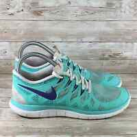 Nike Free 4.0 Womens Size 9 Blue White NikeID Athletic Comfort Running Sneakers