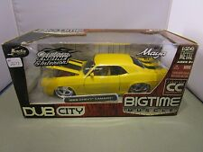 JADA 1/24 BIGTIME MUSCLE COLLECTORS CLUB YELLOW 1969 CHEVY CAMARO SS VERY NICE