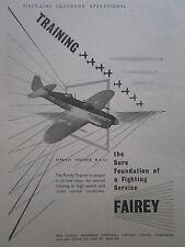 3/1947 PUB FAIREY AVIATION HAYES FIREFLY MK I TRAINER ROLLS GRIFFON ORIGINAL AD