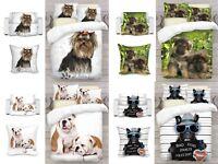 3D Dog Art Photo Print Duvet Quilt Cover or Blanket or Cushion UK Made