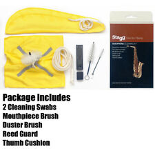 Stagg SCK-PRO-AS Saxophone Cleaning Maintenance Kit with Swab, Brush, Cloth