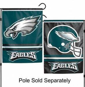 Philadelphia Eagles 2 Sided Double Garden Flag Outdoor Window Banner 12 x18 New.