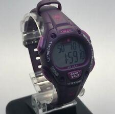 Ladies Timex Ironman Triathlon Purple Silicone Watch Digital Indiglo Violet