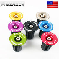 Bike Handlebar Grips Anti-slip End Plugs Lightweight For MTB/Road Bike 22-24mm