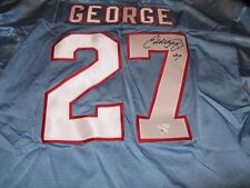 Eddie George Houston Oilers Signed Authentic Wilson Jersey XL JSA