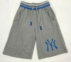 New York Yankees Cooperstown Majestic MLB Baseball Shorts Mens Size L Gray Pants