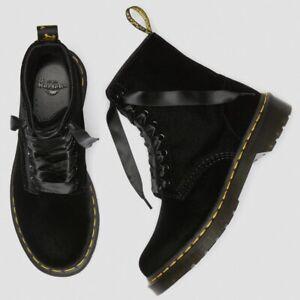 NIB Dr. Martens 1460 Black Velvet Boots 8