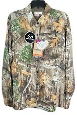 Magellan Women Button Up Eagle Pass Deluxe Camo Hunting Shirt Realtree Edge NEW!