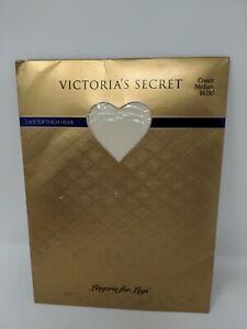Victoria's Secret Lace Top Thigh Highs Vintage 90 Medium Lingerie for Legs Cream