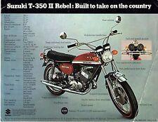 1970 Suzuki T-350 II Rebel Twin motorcycle sales brochure/flyer  (Reprint) $6.50