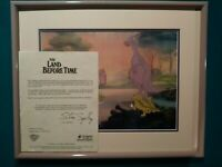 SPIKE w/ DUCKY'S FAMILY, LAND BEFORE TIME BLUTH STUDIOS KEY PRODUCTION CEL SETUP