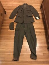 Xl Extra Large Swedish M/39 Uniform with blouse, trousers, and cap Ww2 Era