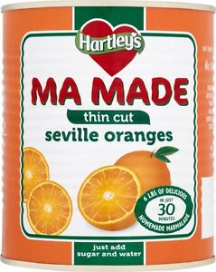 Hartley's / Robinson's Ma Made Seville Oranges Thin Cut 4 Tins Of 850g