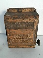 ANTIQUE METAL INDUSTRIAL TOILET PAPER DISPENSER HOYT SCOTTS 1885