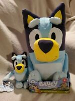 "New Best Mate Bluey 18"" Jumbo Plush and 8"" Plush Toy Dog Stuffed Animal"