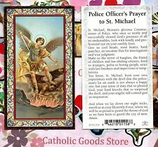 Saint St. Michael - Police Officer's Prayer - Gold Trim - Paperstock Holy Card