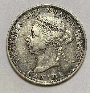 1899 Canada Silver 25c Quarter VF/XF Details