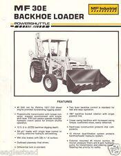 Equipment Brochure - Massey Ferguson - Mf 30E - Backhoe Loader - c1985 (E1573)