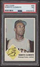 1963 Fleer #56 Roberto Clemente Bob Pirates PSA 7 Near Mint NM