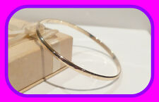 LARGE HEAVY 8.91G GENUINE SOLID 9CT GOLD  DIAMOND CUT PATTERN GOLF/SLAVE BANGLE