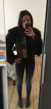 100% Leather Shearling Cropped Jacket 6/8