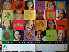 "Girl Scouts 2003 ""Expect Great Things"" double sided Poster Cookie Advertisement"