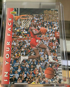 Michael Jordan 1992-93 Upper Deck In Your Face two Time Champion iconic bulls