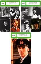 FICHE CINEMA x3 : CHRISTOPHER LEE DE 1948 A 1989 -  Grande-Bretagne (Bio/Filmo)