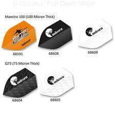 5 Sets Unicorn Shield Dart Flights Barneveld Black and White 100 and 75 Micron
