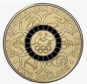 "2016 Olympic $2 Coin Australian Two Dollars "" BLACK Ring """