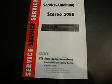 Original Service Manual Schaltplan RFT VEB Stereo 5080