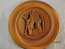 Vintage 1979 Norman Rockwell The Big Moment Copper Plate With Coa 2nd In Series