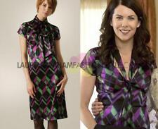 Diane Von Furstenberg Laurie tie neck silk dress size 8 USA/12 UK