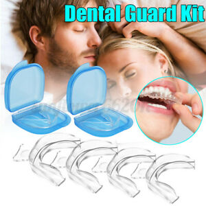 2X NEW Dental Mouth Guard Bruxism Splint Night Teeth Tooth Grinding Sleep Aid