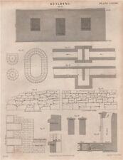 Building. Uncoursed rubble walling; Coursed rubble walling. BRITANNICA 1860