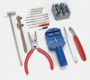 16 pcs Watch Repair Tool Kit Band Strap Link Remover Back Opener Screwdriver UK