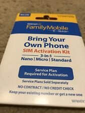 Walmart Family Mobile Sim Card 3/1 Save Money Bring Your Own Phone IPhone Sale