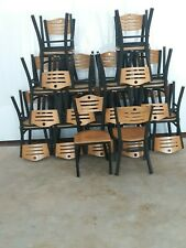 Black Metal and wooden Chairs