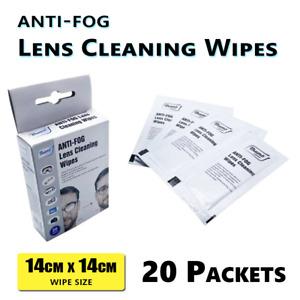 20PK Anti-fog Wipes Glasses Lens Cleaning Camera Mobile Phone Screen Cleaner