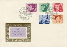 Ersttagsbrief Schweiz MiNr. 906-910 - Porträtmarken (I)