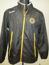 New Boston Bruins Mens Size S Small Black Light Weight Reebok Jacket  MSRP $85