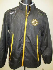 New Boston Bruins Mens Size S Small Black Light Weight Reebok Jacket  MSRP $85