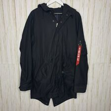 Alpha Industries Diplomat Fishtail Parka Black Size Large