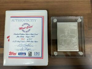 Highland Mint Topps 1987 Jim Kelly Rookie Limited Edition of 500 SILVER Card