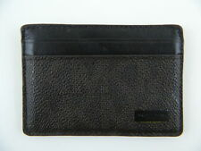 Michael Kors $145 Brown Card Case MEN'S Leather Wallet CARD CASE 4 CARD SLOT B22