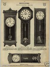 "1913 PAPER AD Waterbury Seth Thomas Regulator Wall Clocks Clock 62"" 57"""