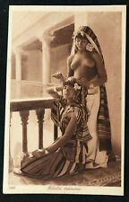 cpa postcard Africa Filettes Bedouines naked young girl nude breasts topless L&L