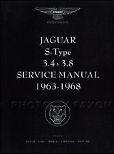 Jaguar 3.4 S 3.8S Service Manual 1963 1964 1965 1966 1967 1968 3.4S 3.8 Shop